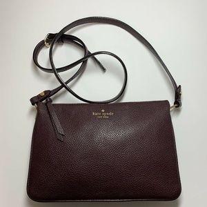 Kate Spade Small Burgundy Purse Handbag Crossbody